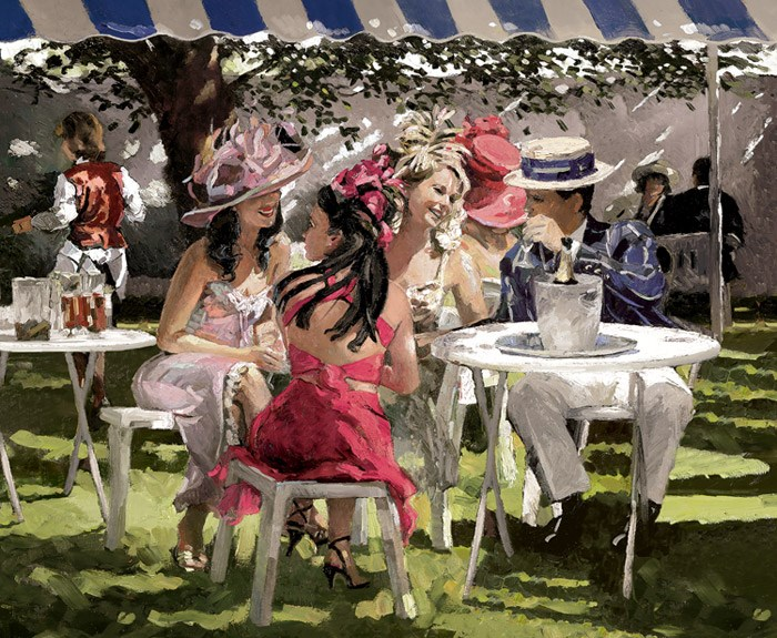 The Social Season by Sherree Valentine Daines - Hand Finished Limited Edition on Canvas sized 28x23 inches. Available from Whitewall Galleries